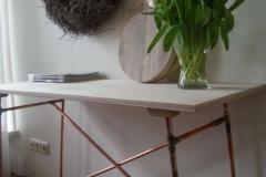 Krekt_op_Maat_sidetable_sidetafel__design_brons_koperbuis